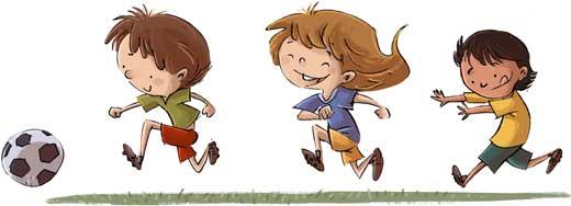 contact free kick cartoon soccer kids - Kids Cartoons Free